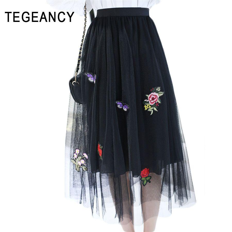 d144c44e5 Cheap TEGEANCY Adultos Tul Blanco vestido de Bola Faldas Mujeres ...