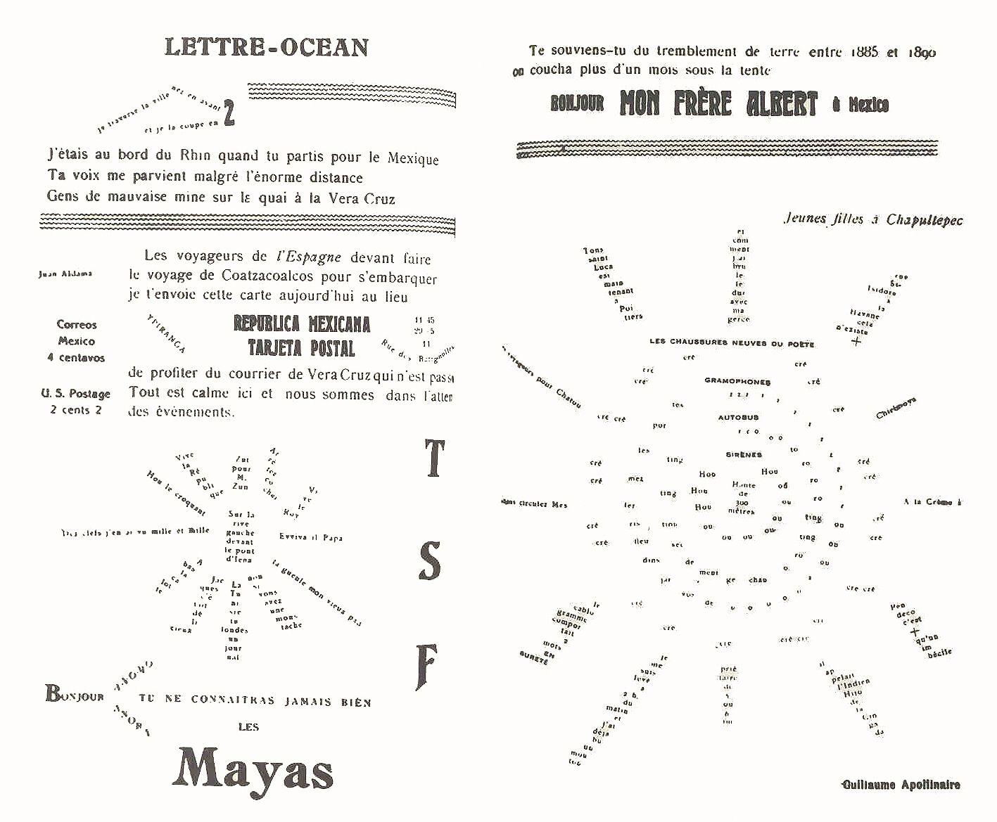 lettre océan Guillaume Apollinaire | 文字