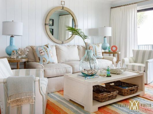 Photo of 25 Small Cozy Beach Cottage Style Living Room Interior Design & Decor Ideas