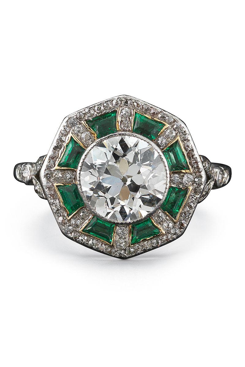 Art Deco 1915 Platinum, Sapphire And Diamond Ring - Blue Fred Leighton