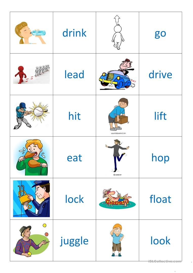 Verbs 2 Memory Worksheet Free Esl Printable Worksheets Made By Teachers Verbs For Kids English Lessons For Kids Verbs Activities [ 1079 x 763 Pixel ]
