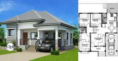 Modern Bungalow House Design With Three Bedrooms Engineering Discoveries