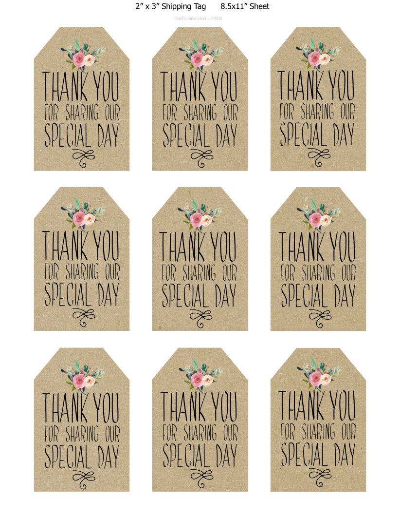 image relating to Printable Wedding Favor Tags referred to as printable marriage ceremony prefer tags thank by yourself printable tags