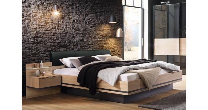 Bettanlage Concept Me 500 Von Nolte Mobel Korpus Und Front Sonoma Eiche Absetzung Basalt Best Aus Bett Mit Liegeflache Schlafzimmermobel Nolte Mobel Bettfuss