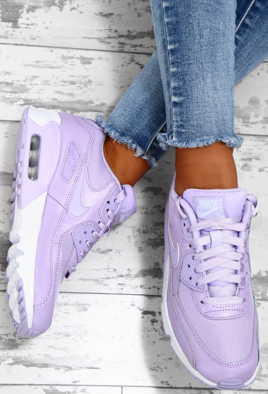 6c03cd68a Nike Air Max 90 Lilac Trainers - UK 3 | Sneakers | Nike air shoes ...