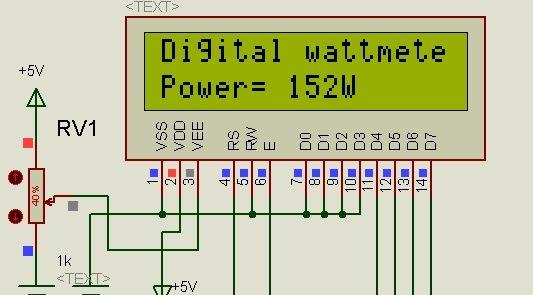 digital dc watt meter using pic microcontroller ... generac 5500 watt generator wiring diagram #5