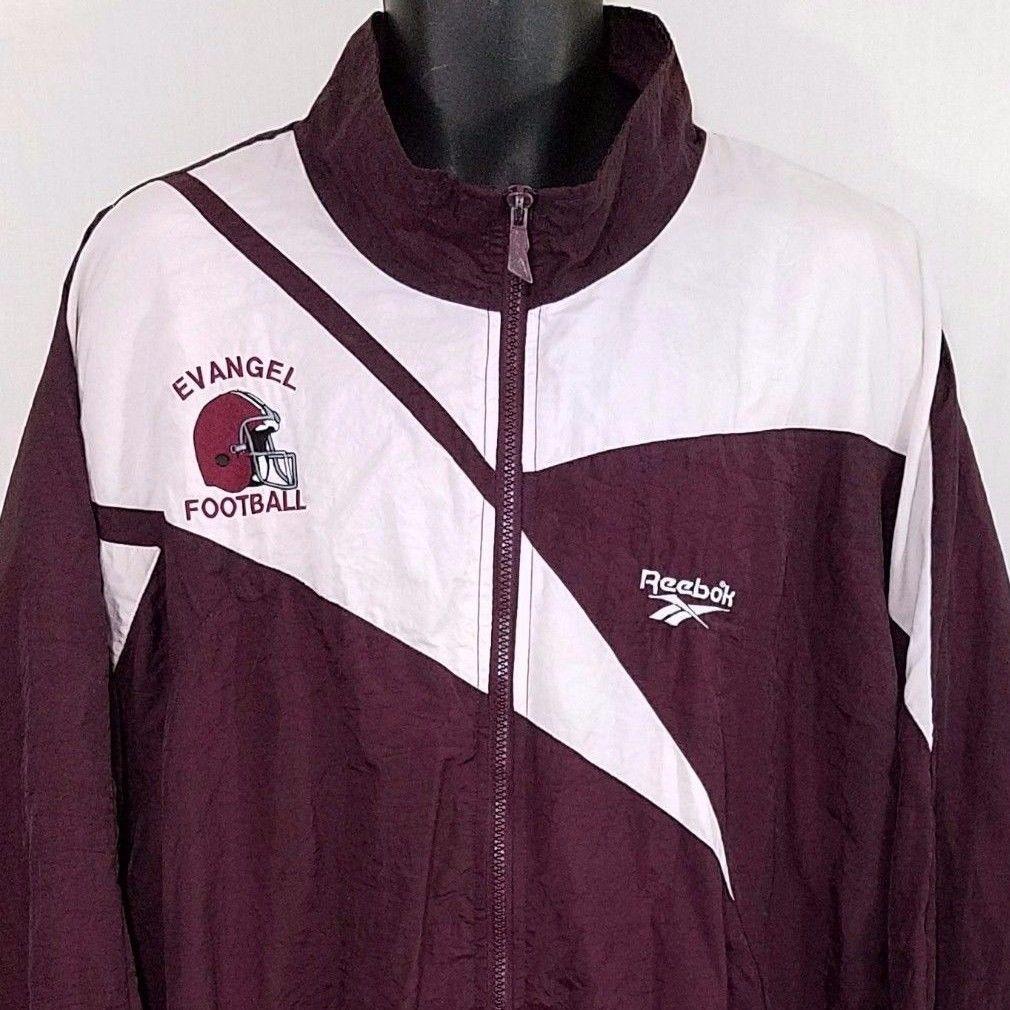 Evangel University Reebok Windbreaker Jacket Vtg 80s 90s Football ...