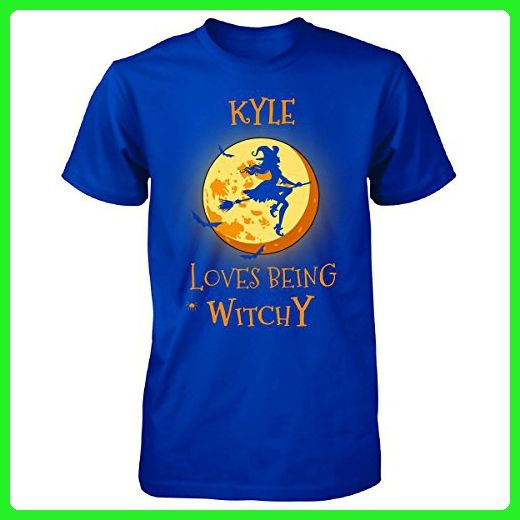 Kyle Loves Being Witchy. Halloween Gift - Unisex Tshirt Royal S - Holiday and seasonal shirts (*Amazon Partner-Link)