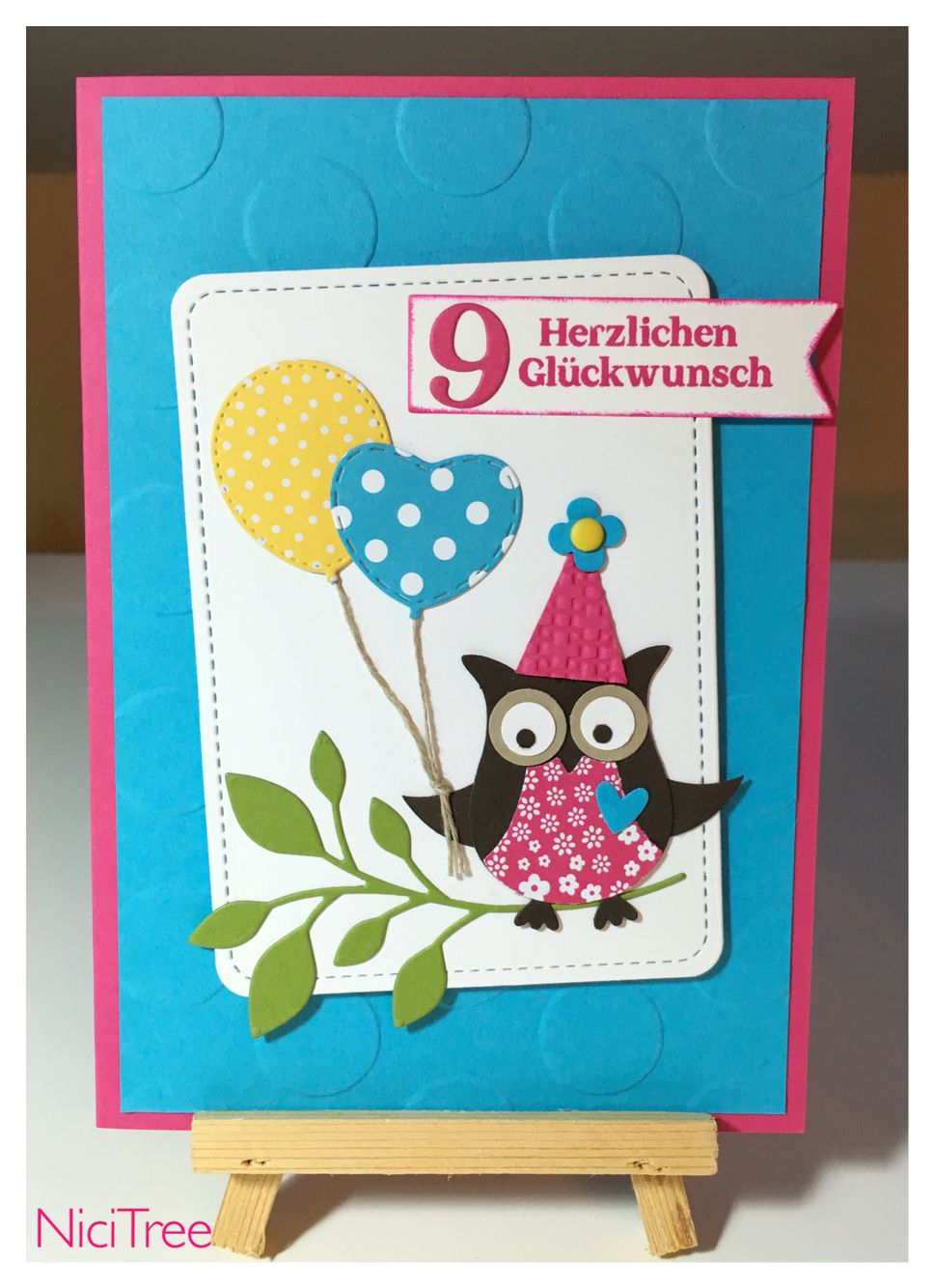 Stampin up birthday card owl punch marianne design memory box