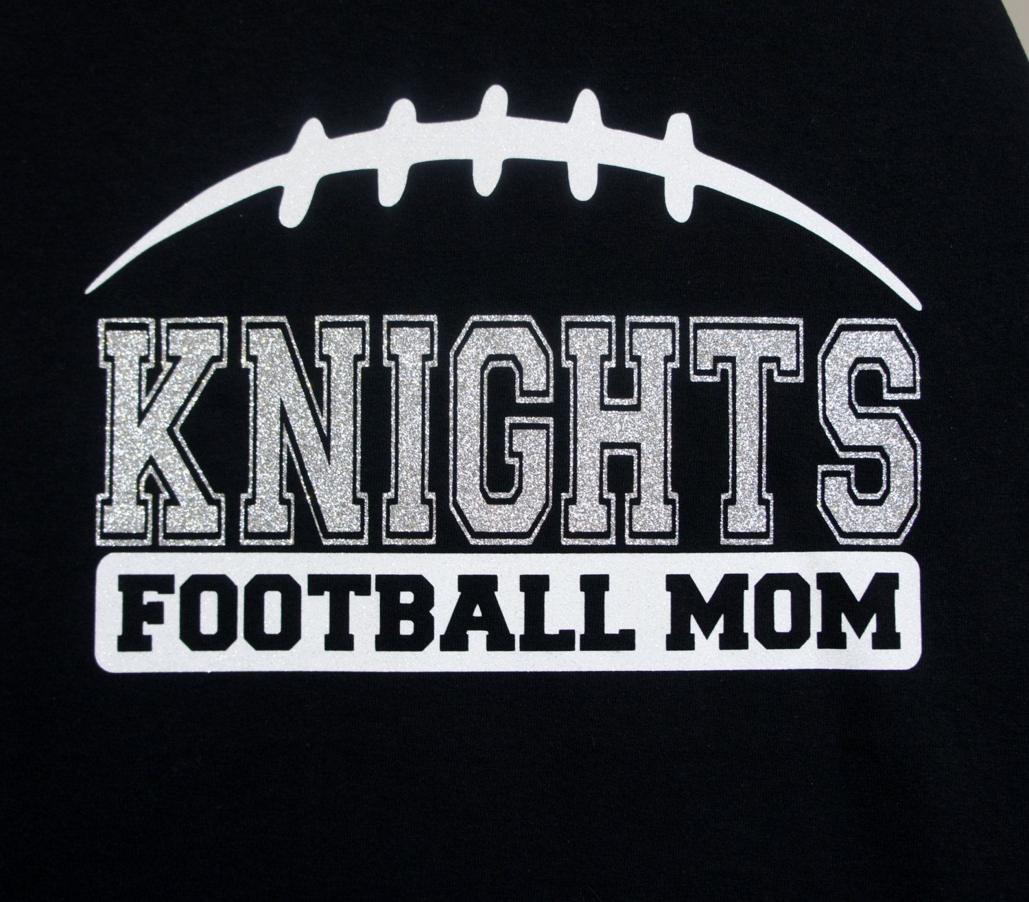 1dd0f2792 Custom Football Mom Shirt - customize for your team name (Knights Football  shown)