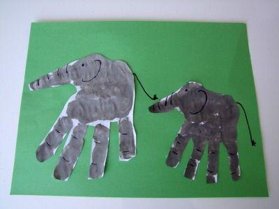 Handprint elephant! woah!