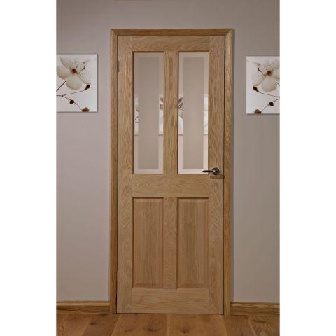 Canterbury Oak Veneer 2 Lite Glazed Interior Door – Next Day Delivery Canterbury Oak Veneer 2 Lite Glazed Interior Door