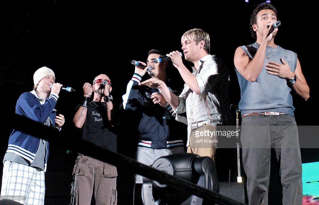 Backstreet Boys during 102.7 KIIS-FM's Wango Tango On-Air 2004 at Rose Bowl in Pasadena, California, United States.