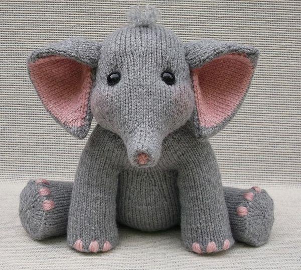 Knit Baby Elephant | Animal Knitting | Pinterest | Knitted baby ...