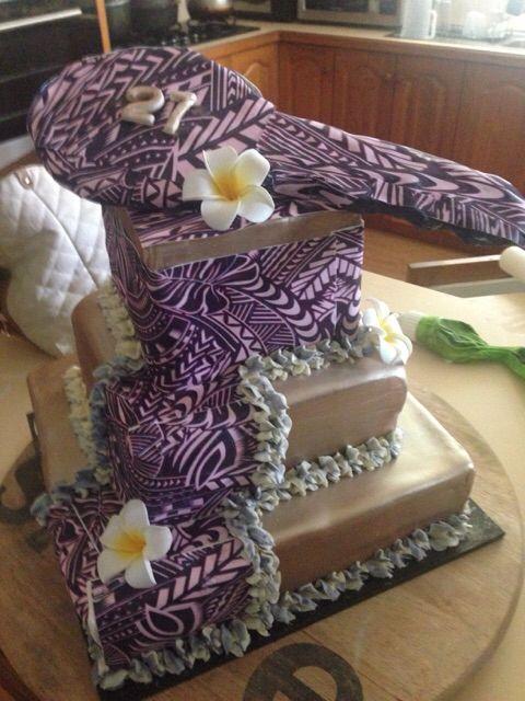 Samoan Patterns 21st Cake Amp Key Topper Slice Of Grace