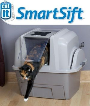 Catit Smartsift Hooded Cat Litter Box Cleaning System Does The
