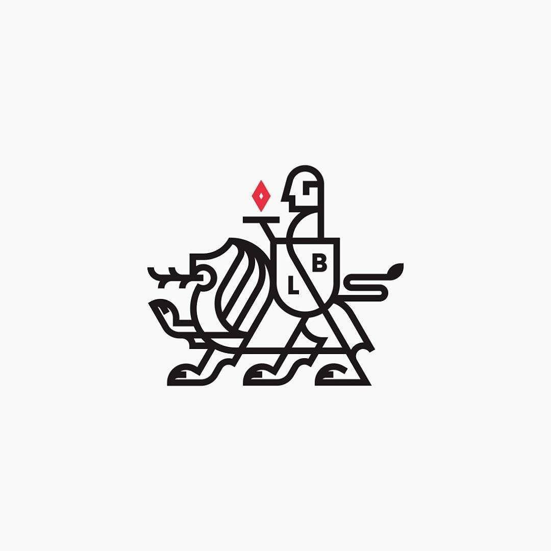 Crystal Logodesign: Lion & Butler #logo #design # Logodesign