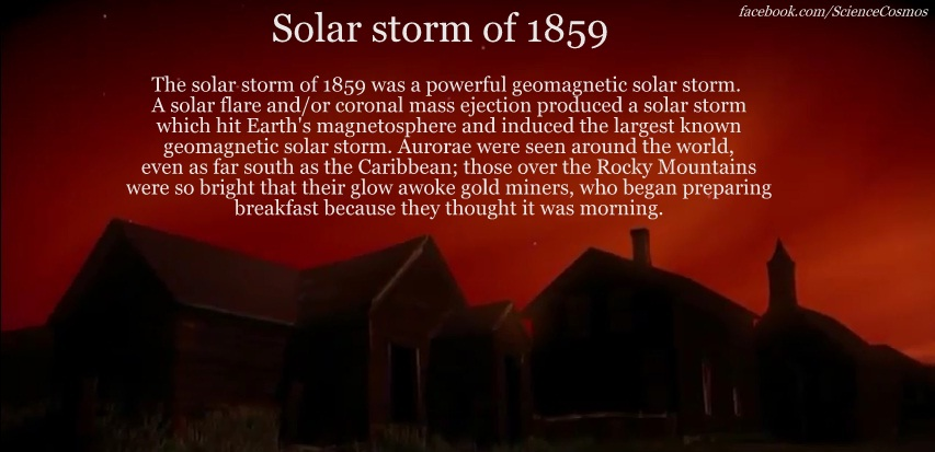Solar Storm of 1859 #science