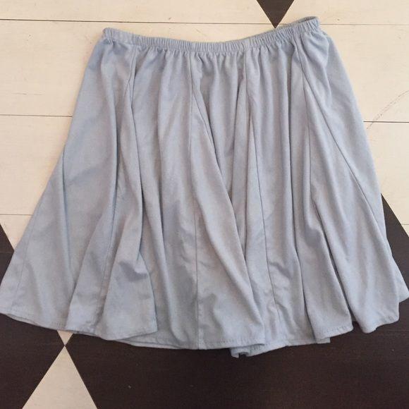 NWOT SUEDE Brandy Melville skirt Light blue suede brandy skirt. Elastic waistband. NWOT Brandy Melville Skirts Mini