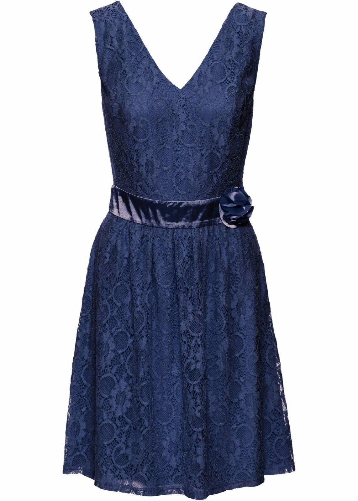 traumhaftes spitzenkleid in mitternachtsblau im super design
