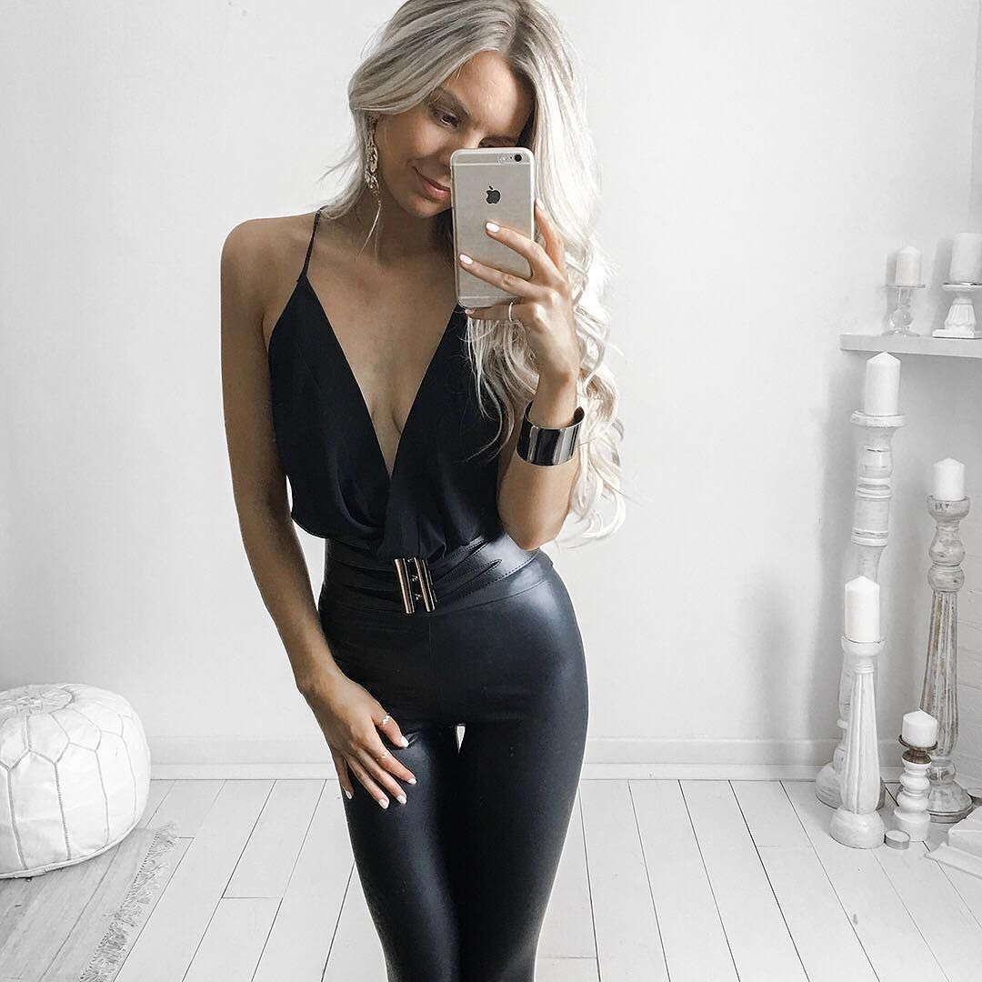leather look leggings this outfit is hot fashion pinterest lederbekleidung leder und. Black Bedroom Furniture Sets. Home Design Ideas