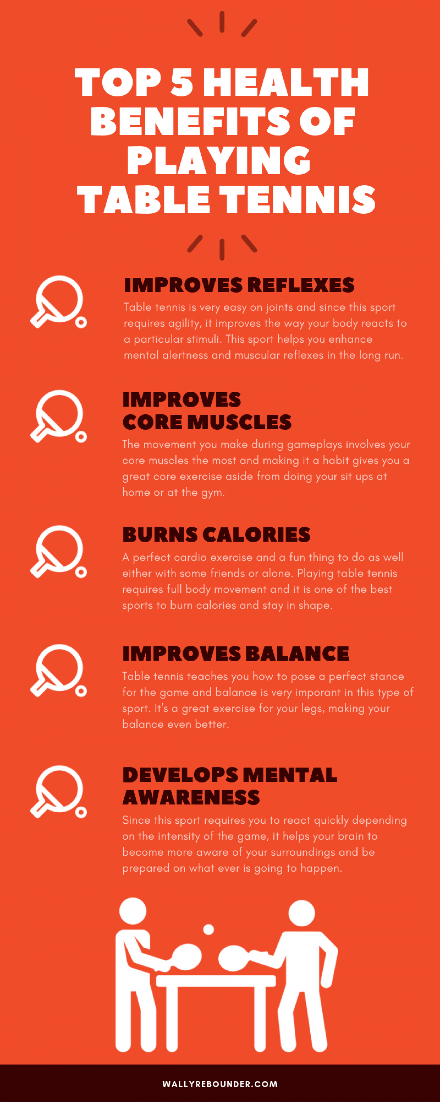 Top 5 Health Benefits Of Playing Table Tennis Visual Ly Table Tennis Tennis Health Benefits