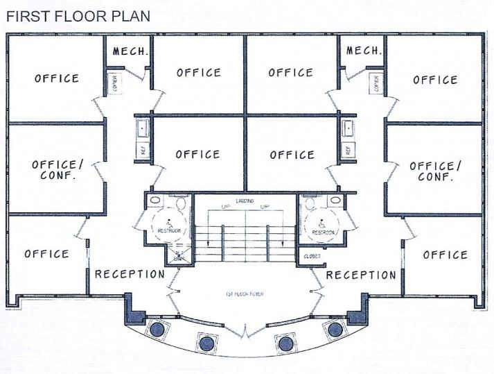 Image of commercial building floor plans randoms for Second floor house plans indian pattern