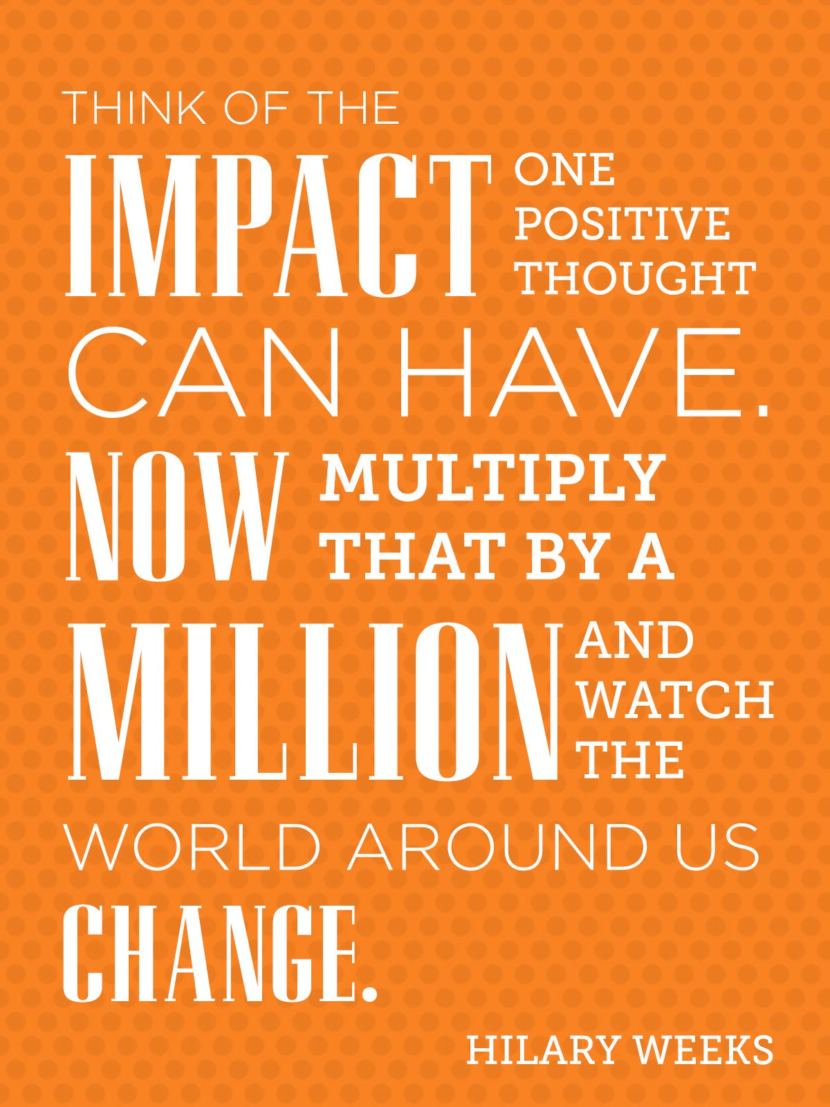 Time Out for Women - Think of the impact one positive ...
