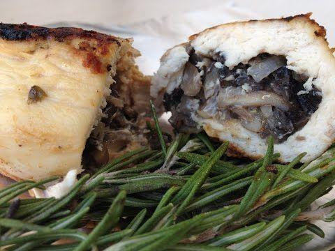 куриные грудки фаршированные грибами в духовке