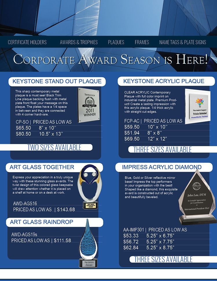 Plaques from PlaqueMaker Plus | Promotional Product Flyers