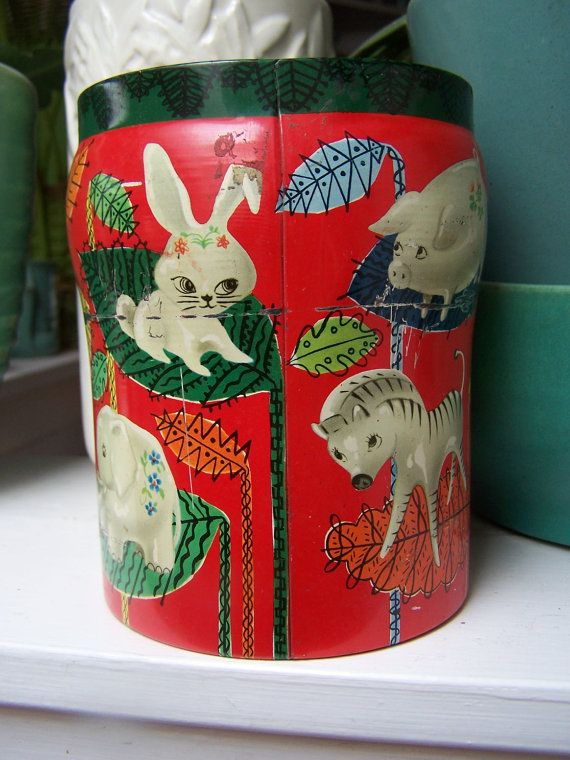 Vintage Tin George Horner England Kitch cat by PlantDreaming, $19.00