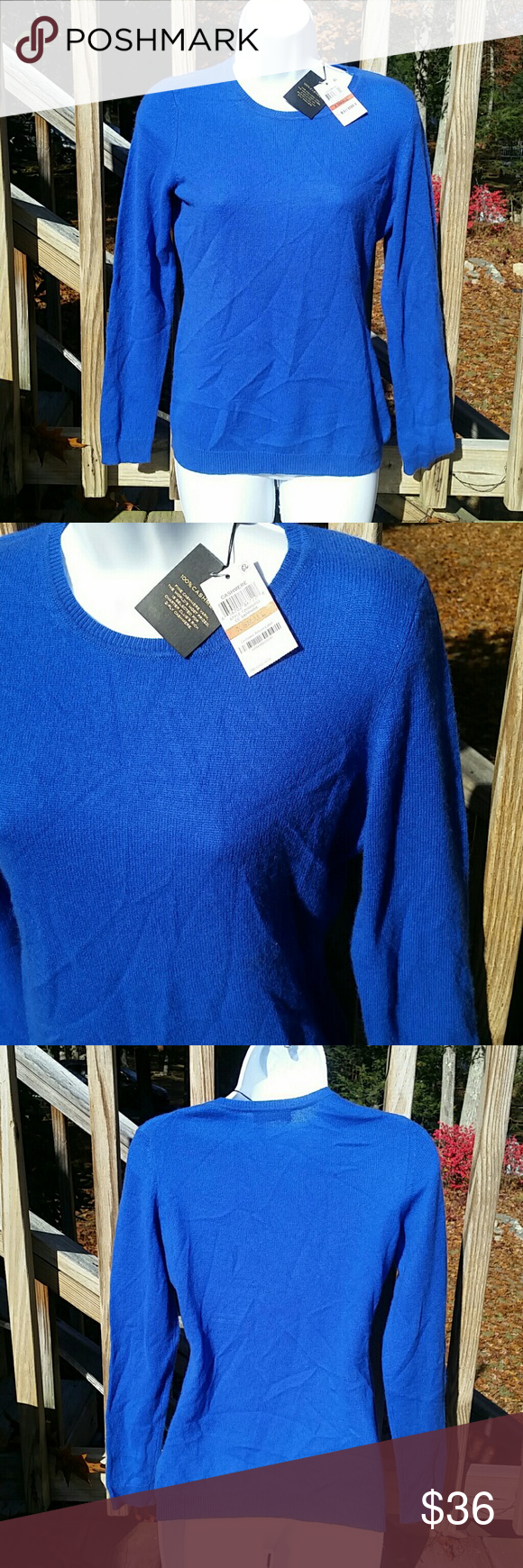 Charter Club Delicious 100% Cashmere Sweater NWT Charter Club Delicious 100% Cashmere Sweater. NWT Size XS  Color: Sapphire  100% Cashmere 2 Ply Style:72000S1893 *Does run a little bigger. Can easily fit up to a Small* 001060 **NO TRADES** **PRICE ABSOLUTELY FIRM** **PRICE ABSOLUTELY FIRM** Charter Club Sweaters Crew & Scoop Necks