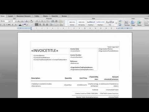 How To Create Docx Invoice Templates In Xero Accounting Software Invoice Template Accounting Software Templates