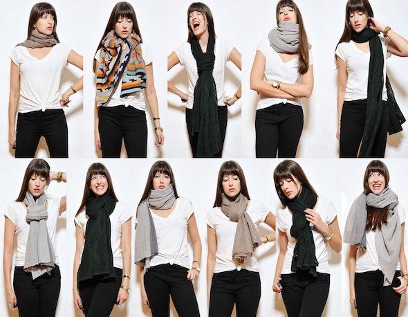 Super Différentes façons de porter une écharpe | Écharpes, Comment  QB02
