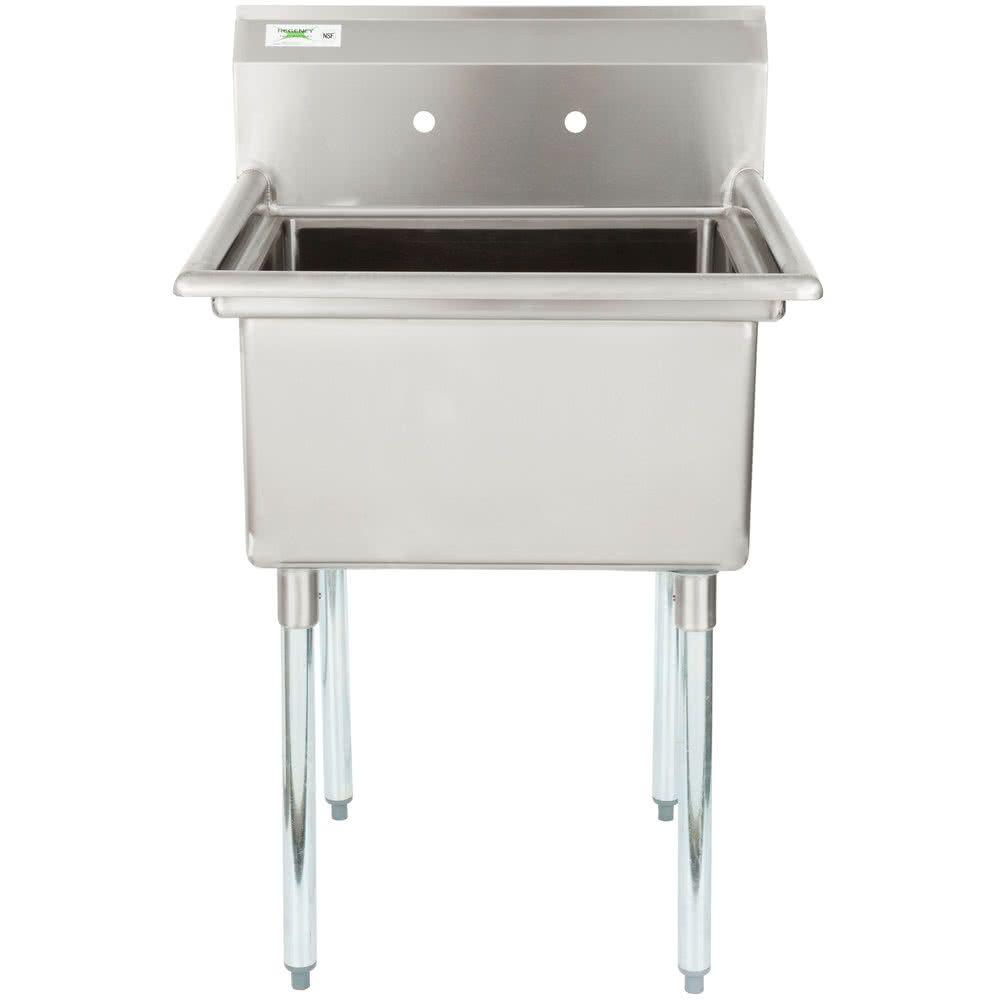 Regency 28 16 Gauge Stainless Steel One Sink Commercial Sink