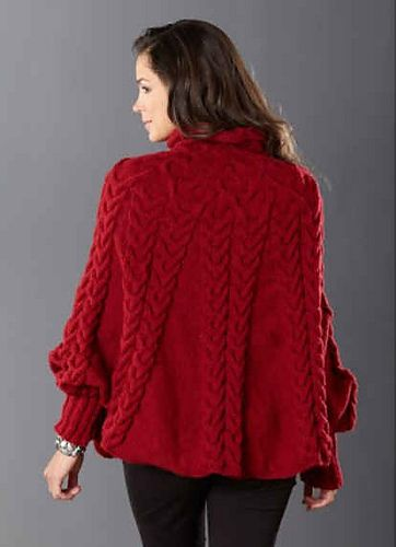 Cabled Poncho pattern by Lara Simonson | Knit fashion ...