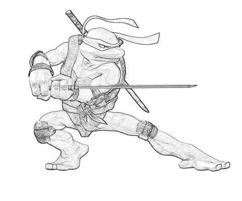 Teenage Mutant Ninja Turtles Coloring Pages Leonardo   Reid\'s Big ...