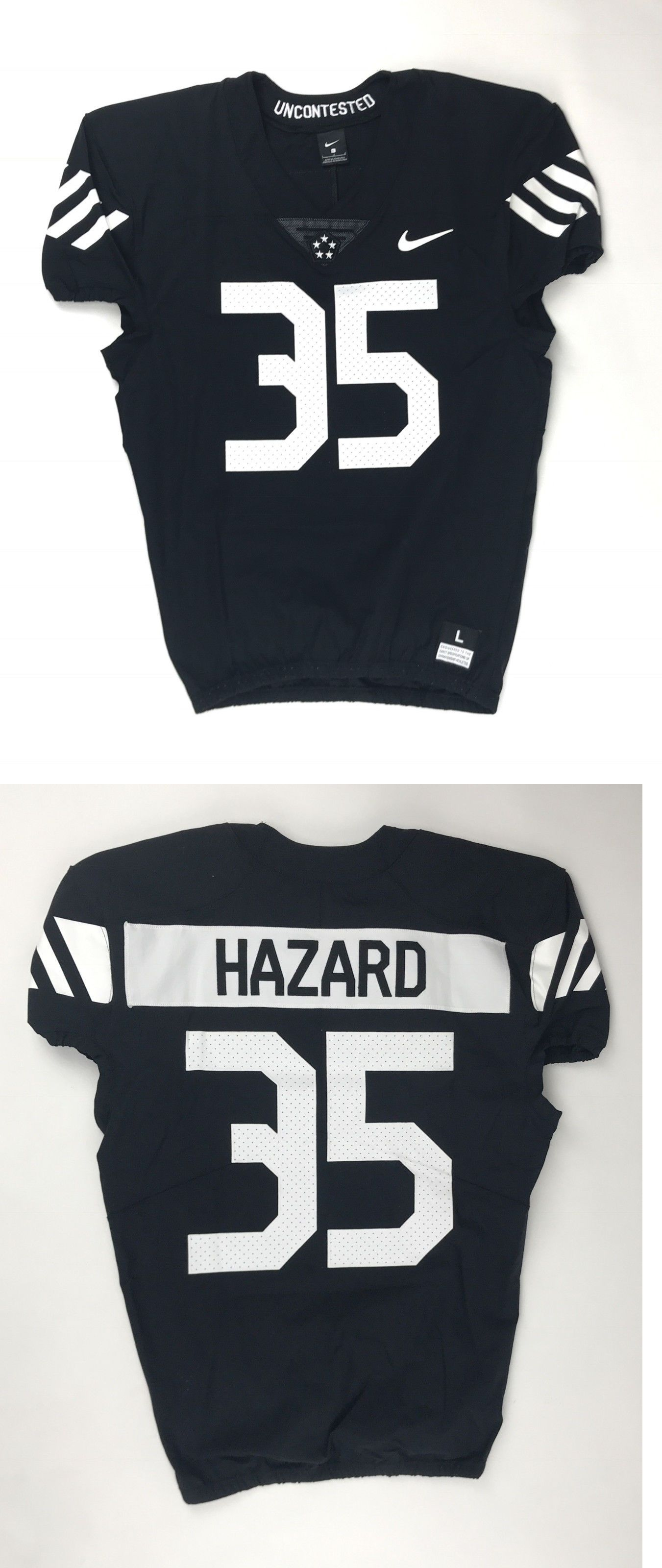 3aa740116 Clothing 21218  New Nike Vapor Pro Hazard  35 Football Jersey Men S Large  Black 908635 -  BUY IT NOW ONLY   34.99 on  eBay  clothing  vapor  hazard  ...