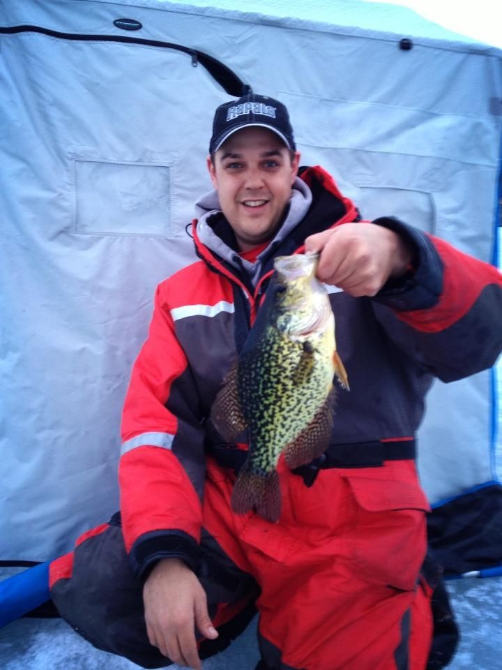 Ice #fishing for Crappie on Rice Lake #Ontario. #icefishing http:\/\/www.northumberlandtourism.com