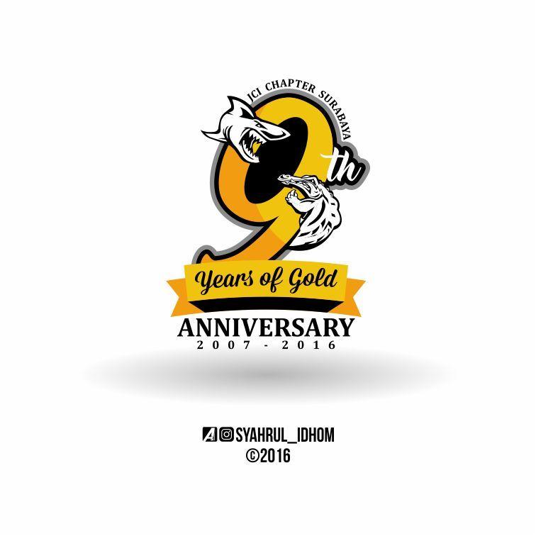 Logo Anniversary Juventus Club Indonesia Chapter Surabaya 9 Years Of Gold