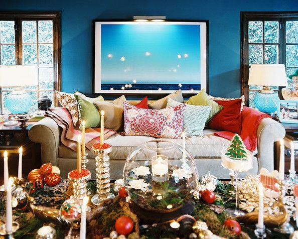 Holiday Decorations Photos Blue Living Room Decor Fall Home Decor