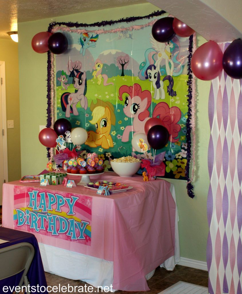 My Little Pony Party Ideas Pony Birthday Party My Little Pony