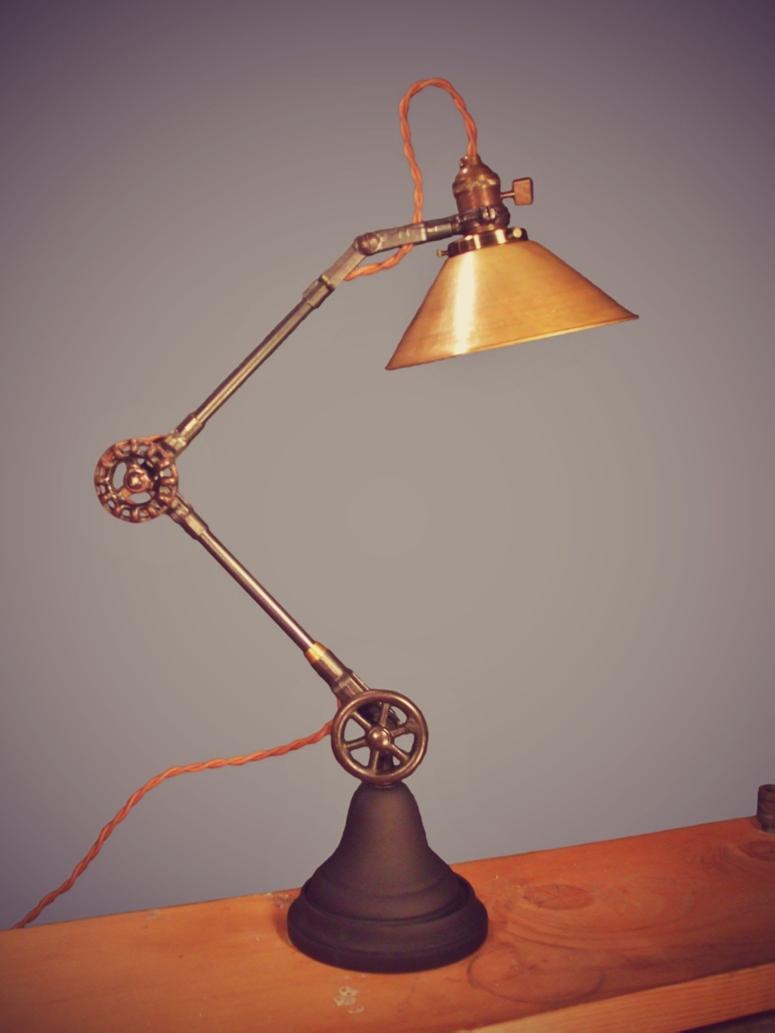 Details About Vintage Industrial Desk Lamp Machine Age Task Light Cast Iron Steampunk With Images Vintage Industrial Desk Industrial Desk Lamp Lamp