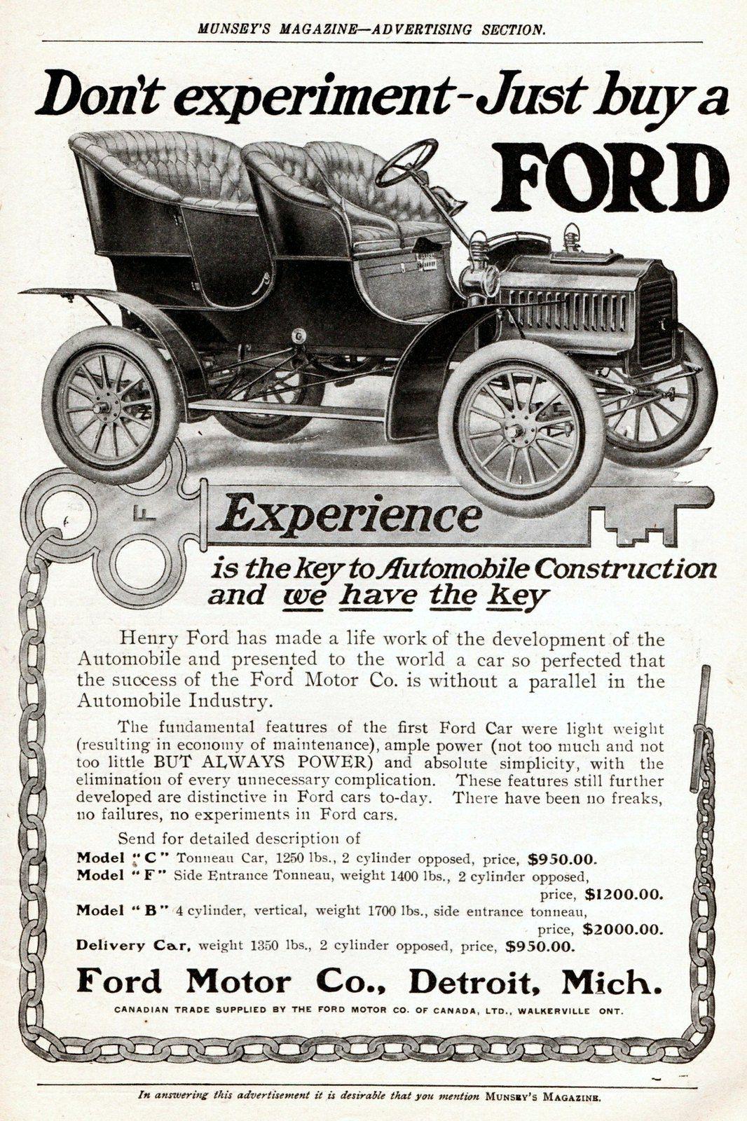 1905 Ford Model F Side Entrance Tonneau Ford Models Ford Ford