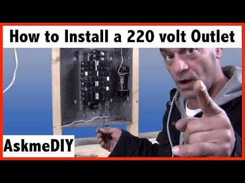 How to install a 220 volt outlet. YouTube Electrical