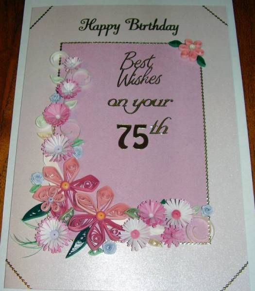 75th Birthday card Quilling Patterns Pinterest – 75 Birthday Card