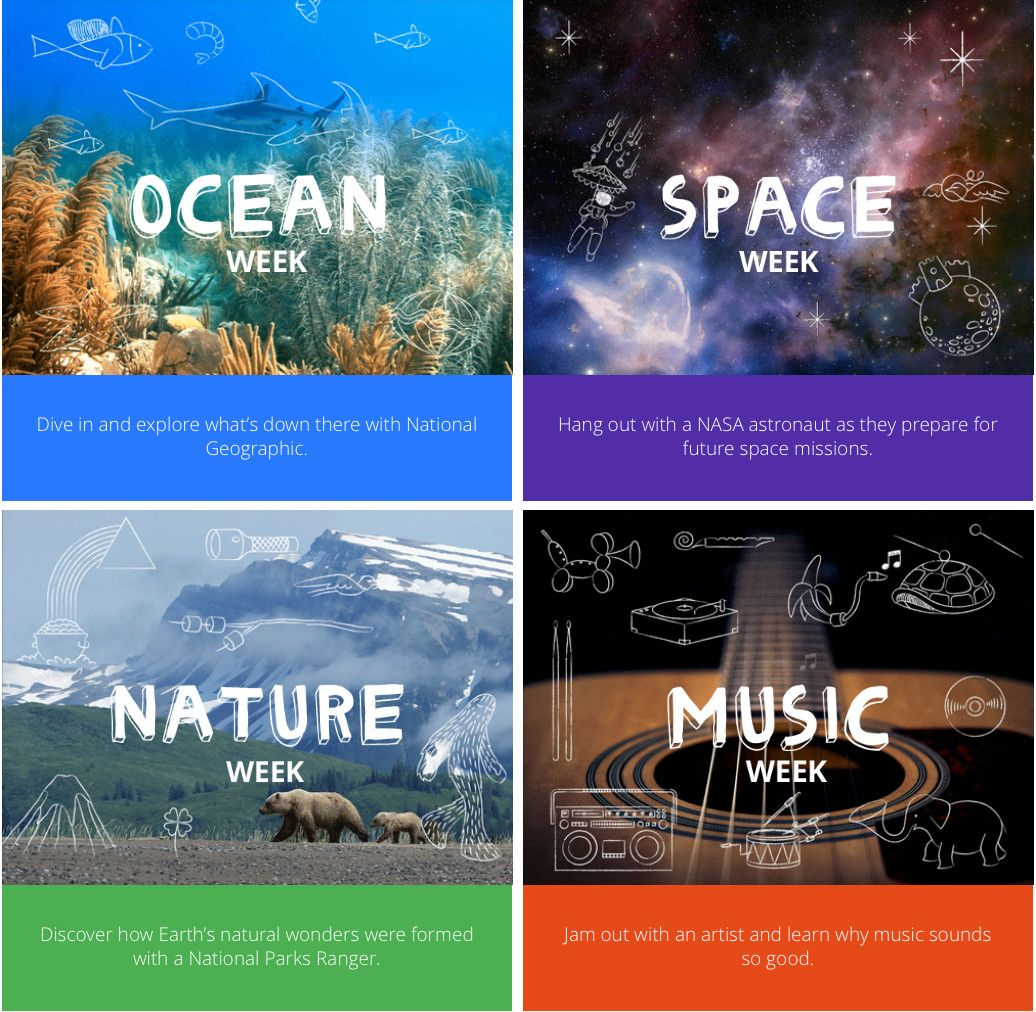 Google has brought together Khan Academy, National Geographic, National Parks, and NASA to launch Camp Google: a free, four-week online camp for kids 7-10.