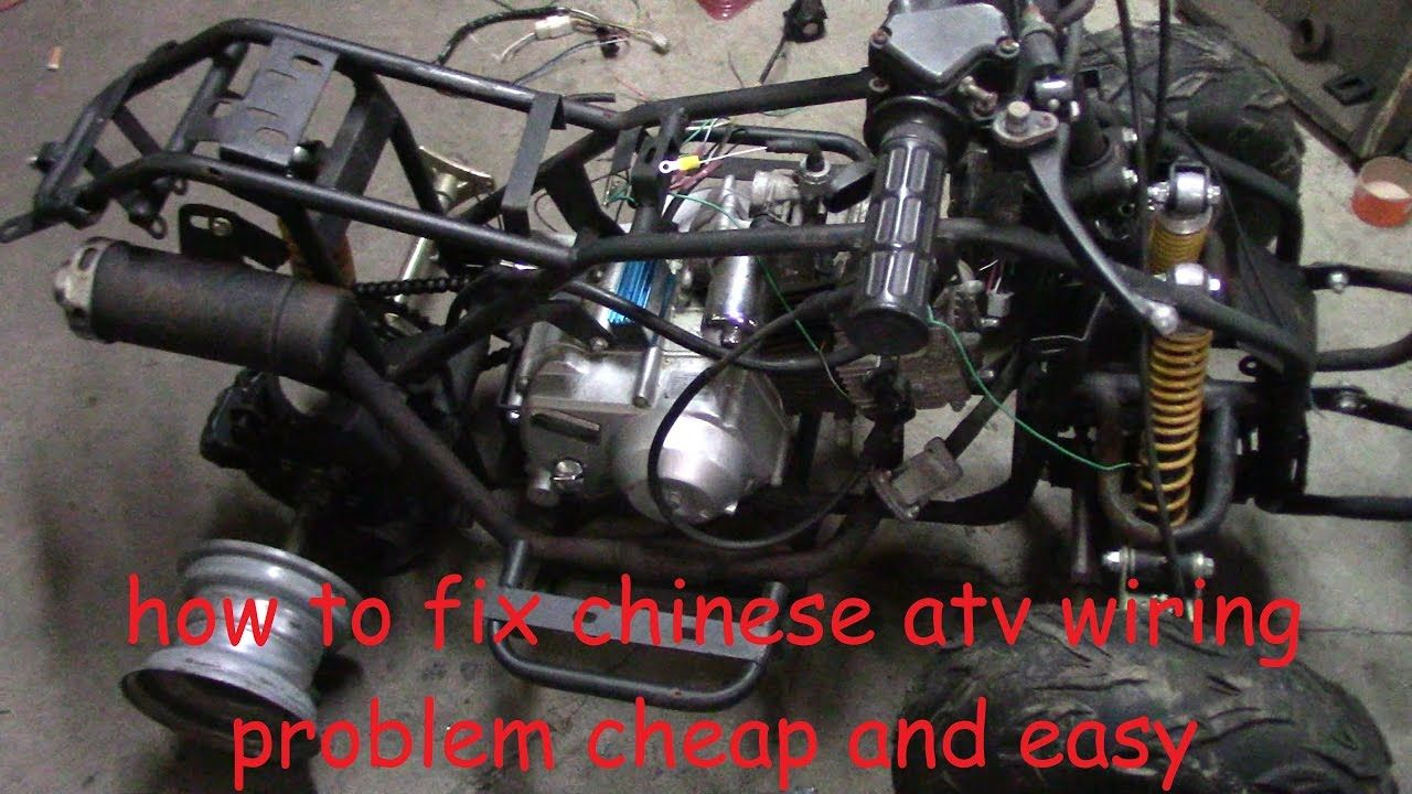 How To Fix Chinese Atv Wiring No Wiring No Spark No Problem Atv Chinese 4 Wheeler Pit Bike