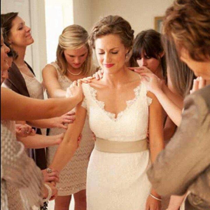 Wow amazing women praying over the Bride!
