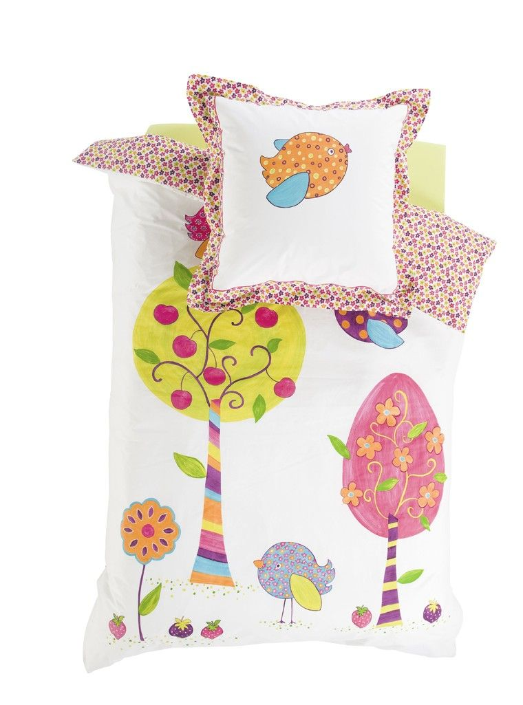 Housse de couette zoe carre blanc kids and teen for Housse de duvet